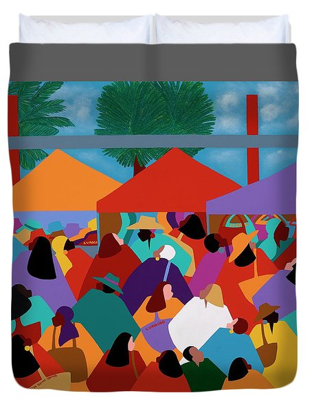 Curacao Market Duvet Cover