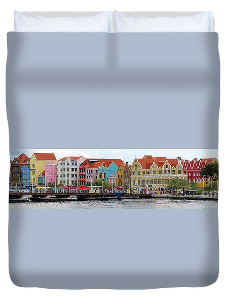 Curacao Willemstad Panorama Duvet Cover