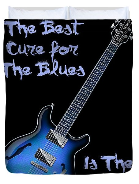 Cure For The Blues Shirt Duvet Cover