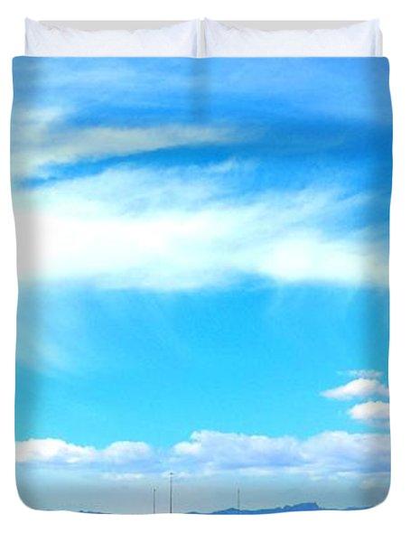 Dragon Cloud Over Suburbia Duvet Cover