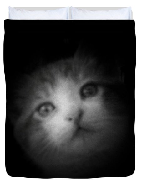 Duvet Cover featuring the photograph Curiosity by Betty Northcutt