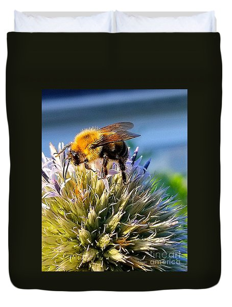 Curious Bee Duvet Cover