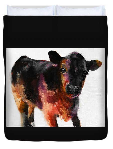 Buster The Calf Painting Duvet Cover by Michele Carter