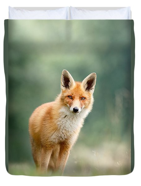 Curious Fox Duvet Cover by Roeselien Raimond