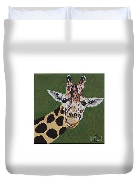 Curious Giraffe Duvet Cover