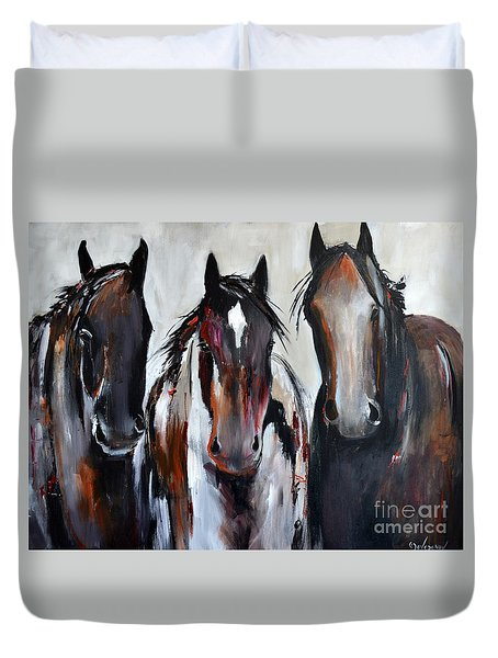 Curious Three Duvet Cover