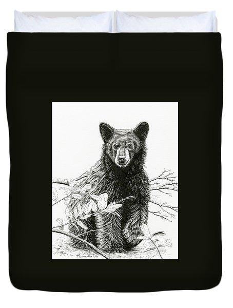 Curious Young Bear Duvet Cover