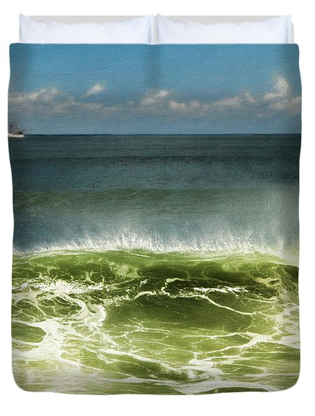 Curl Of A Wave Duvet Cover