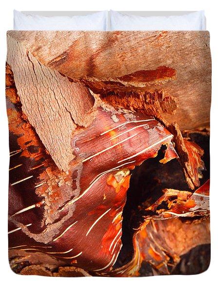 Curled Bark Duvet Cover by Tara Turner