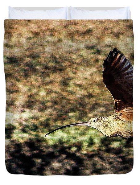 Curlew In Flight Duvet Cover