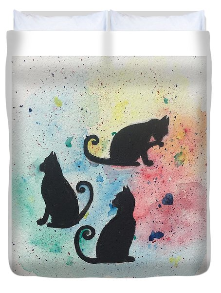 Curly Tails Duvet Cover