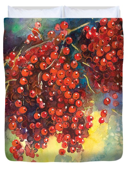 Currants Berries Painting Duvet Cover by Svetlana Novikova