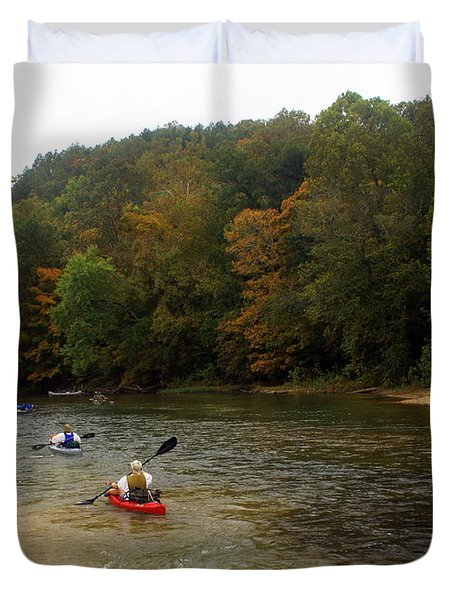 Current River 3 Duvet Cover by Marty Koch