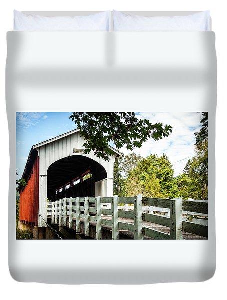 Duvet Cover featuring the photograph Currin Bridge by Jim Adams