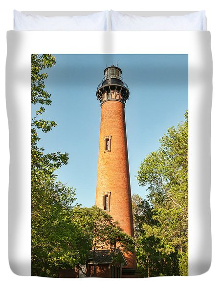 Currituck Beach Lighthouse Duvet Cover