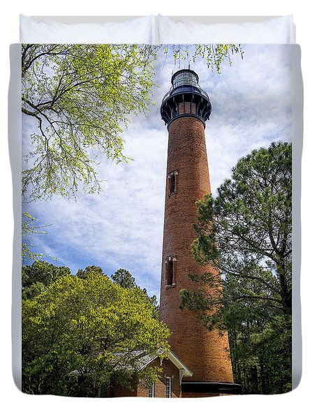 Currituck Lighthous - Corolla Outer Bank Norht Carolina Duvet Cover