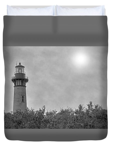 Currituck Lighthouse Duvet Cover by Marion Johnson