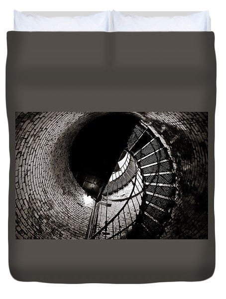 Duvet Cover featuring the photograph Currituck Spiral II by David Sutton