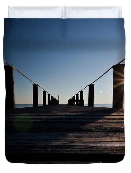 Currituck Sunset Duvet Cover
