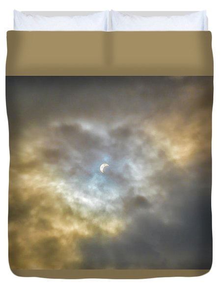 Curtain Of Clouds Eclipse Duvet Cover