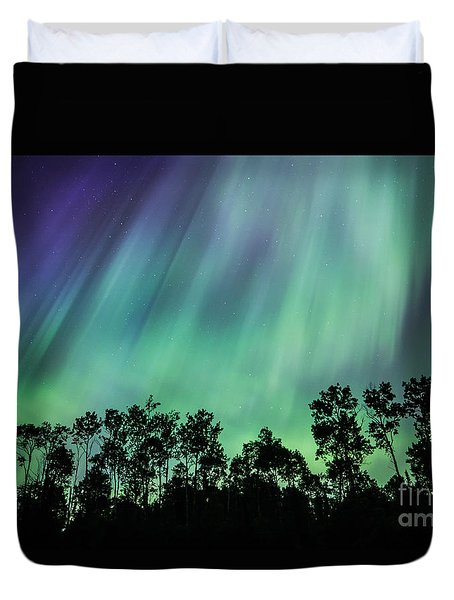 Curtain Of Lights Duvet Cover