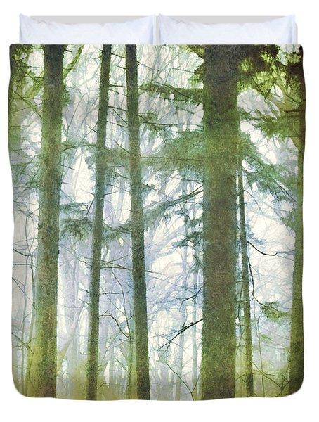 Curtain Of Morning Light Duvet Cover
