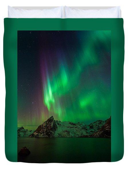 Curtains Of Light Duvet Cover