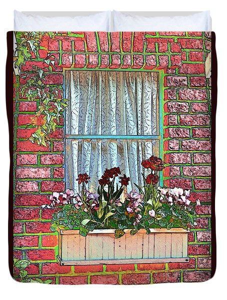Curtains Duvet Cover by Tom Prendergast