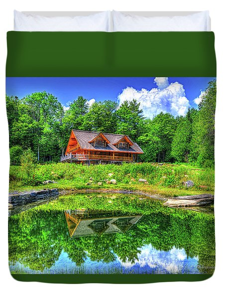 Duvet Cover featuring the photograph Curtis Vance Memorial Apple Orchard by Jim Boardman