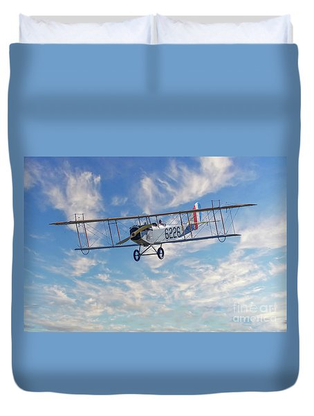 Curtiss Jn-4h Biplane Duvet Cover by Jerry Fornarotto