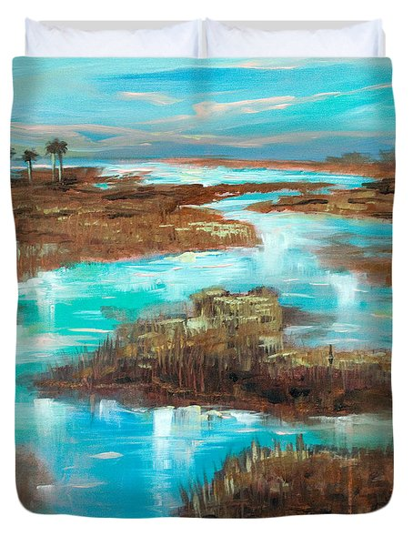 A Few Palms Duvet Cover by Linda Olsen