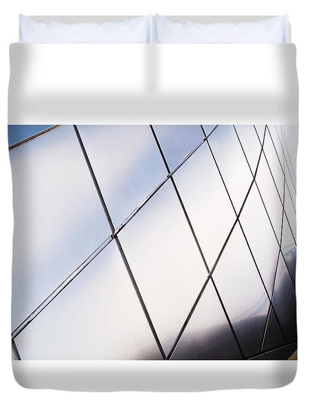 Curve Of The Cone Duvet Cover by Martin Cline