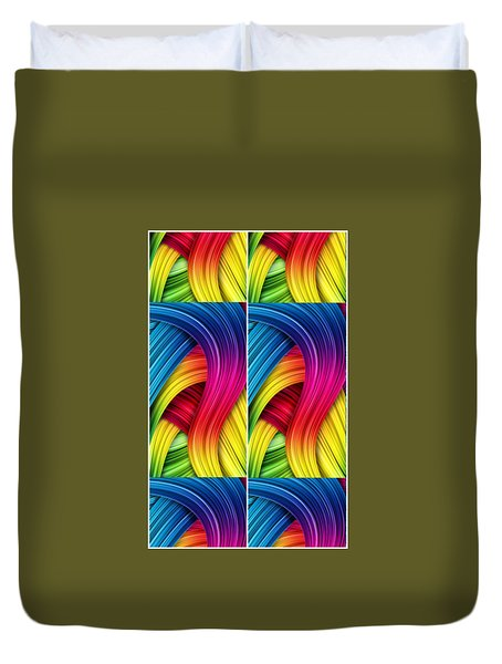 Curved Abstract Duvet Cover
