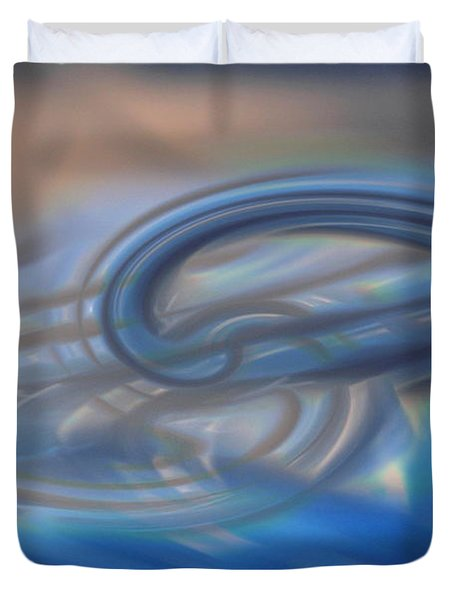 Curved Lines Duvet Cover by Linda Sannuti