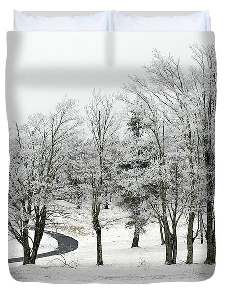 Mac Rae Field Curved Path Duvet Cover