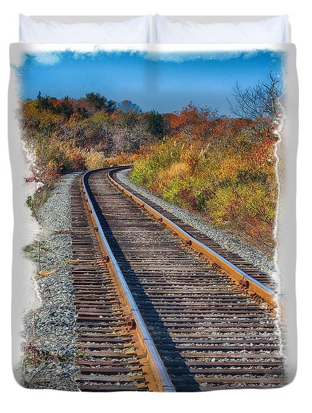 Duvet Cover featuring the photograph Curved Track by Constantine Gregory