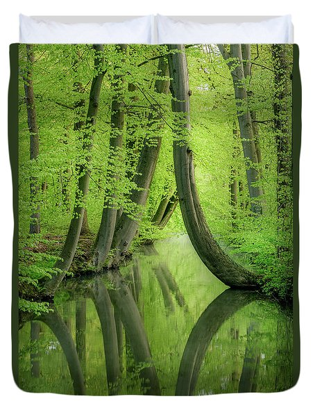 Curved Trees Duvet Cover