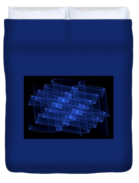 Curves Abstract 004 Duvet Cover