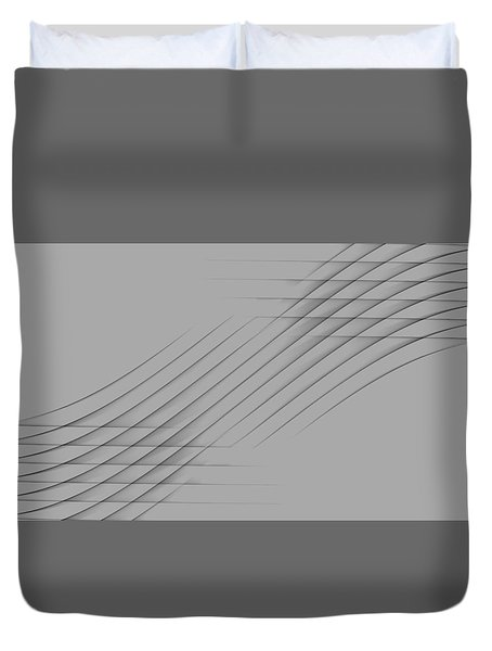 Curves Abstract 010 Duvet Cover