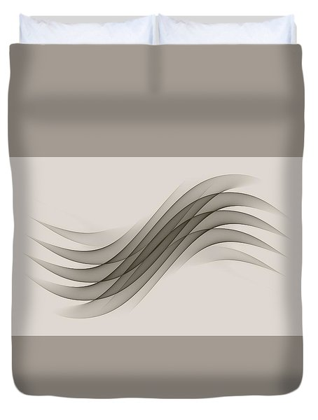 Curves Abstract 012 Duvet Cover