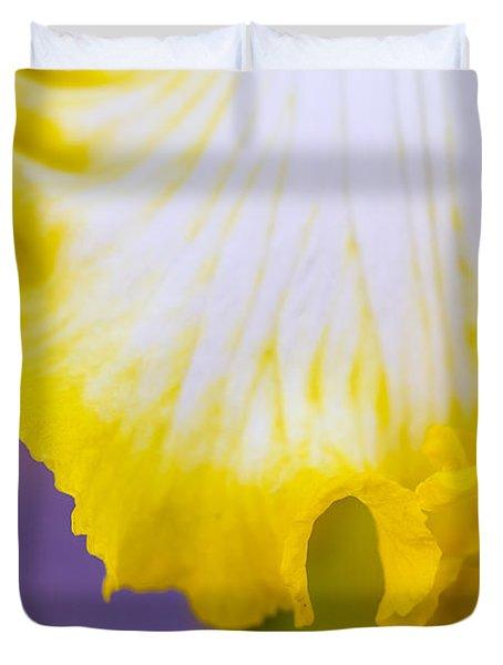 Curves Of An Iris Duvet Cover