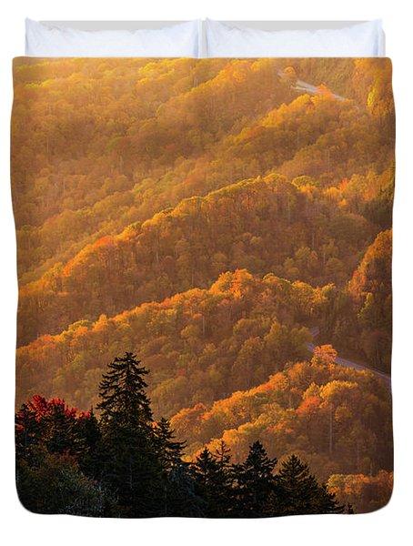 Smoky Mountain Roads Duvet Cover
