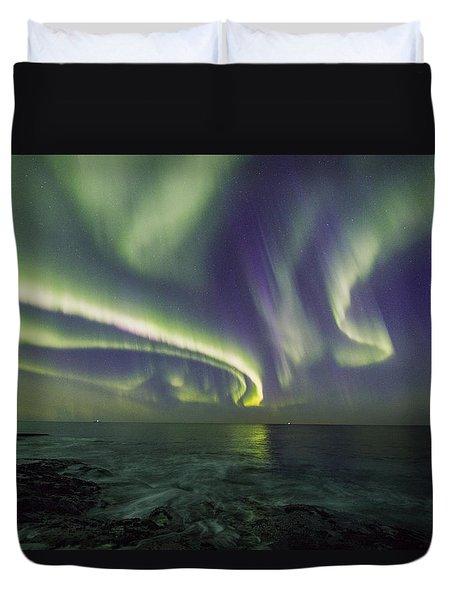 Curvy Auroras Duvet Cover
