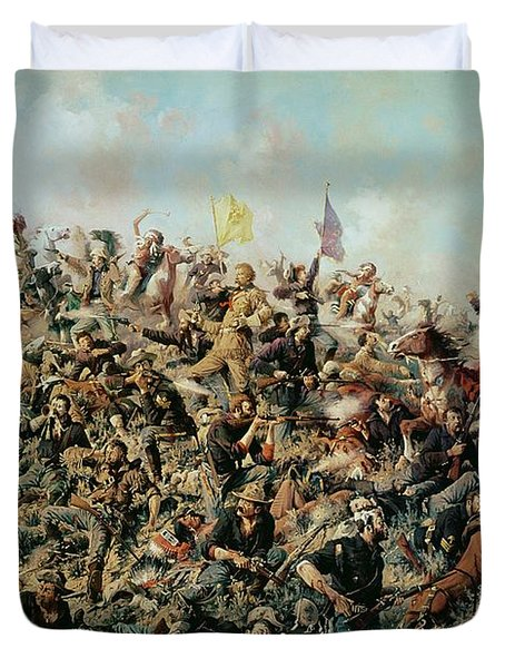 Custer's Last Stand Duvet Cover by Edgar Samuel Paxson