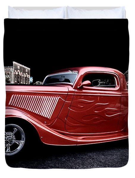 Custom Car On Street Duvet Cover