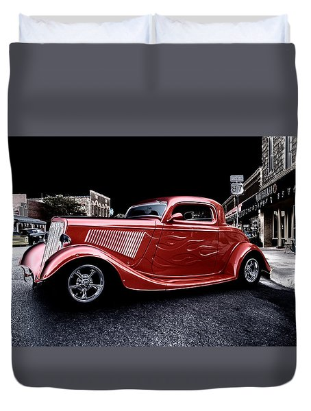 Custom Car On Street Duvet Cover