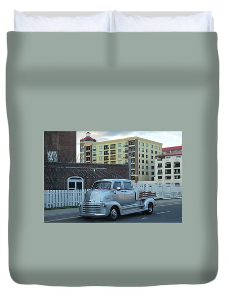 Duvet Cover featuring the photograph Custom Chevy Asbury Park Nj by Terry DeLuco
