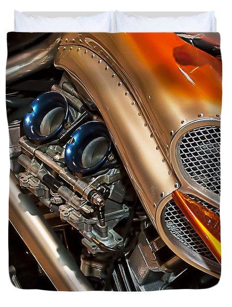 Custom Motorcycle Duvet Cover