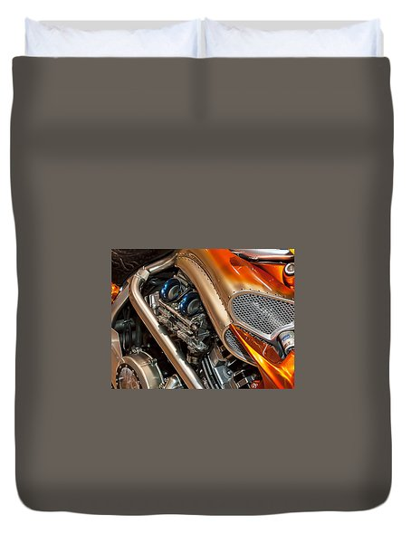 Custom Motorcycle Duvet Cover