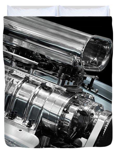 Custom Racing Car Engine Duvet Cover by Oleksiy Maksymenko